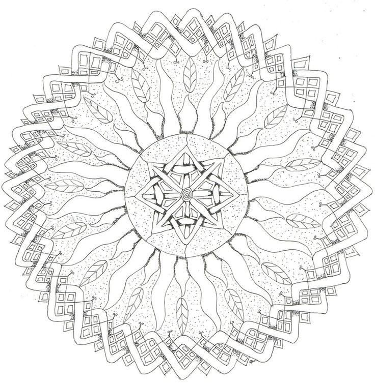 square mandala coloring pages - photo#14