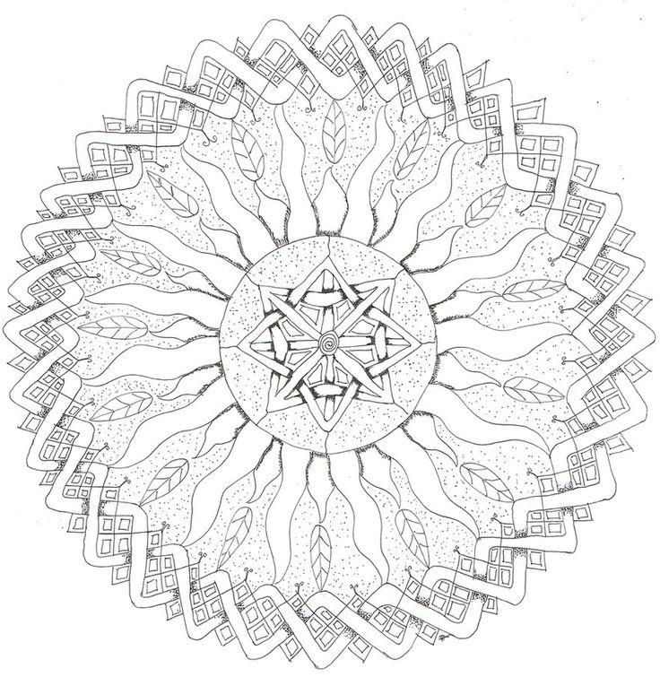 square mandala coloring pages - photo#15