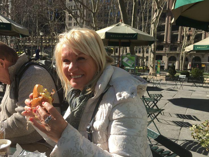 Een lekkere lunch in New York , mooi weer, Good food, just heavan