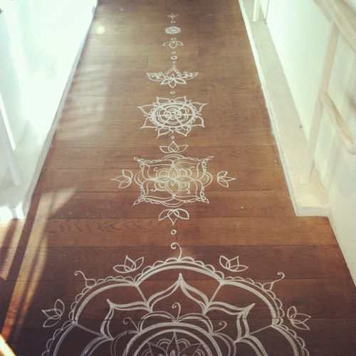 Henna floor design. I want to paint my yoga room floor purple and paint a lotus in the middle.
