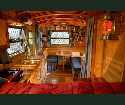 1195 best images about rv decorating trailer decorating ideas on pinterest rv makeover - The recreational vehicle turned cabin in the woods ...