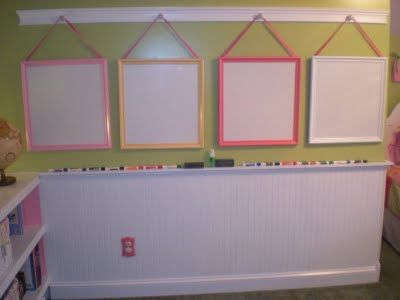 Framed white boards. Cute for the little artist in your house!