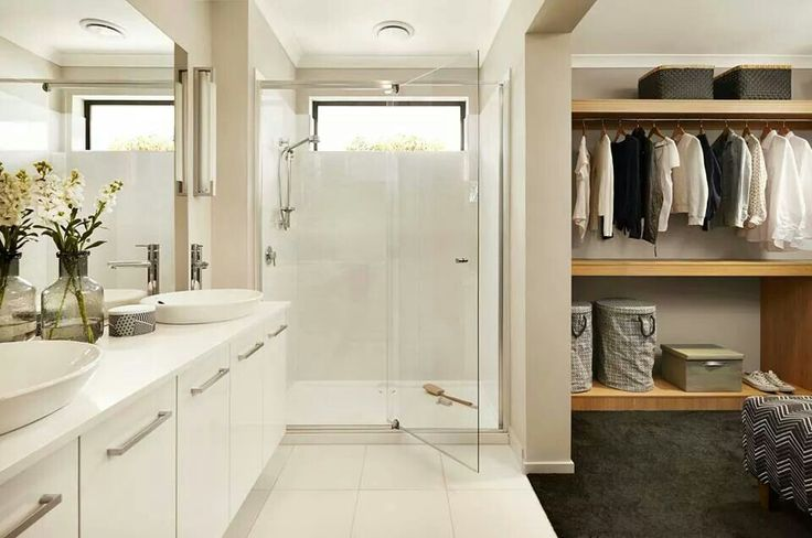 Love the layout of WIR then vanities....would probably have the shower hidden behind the vanity wall