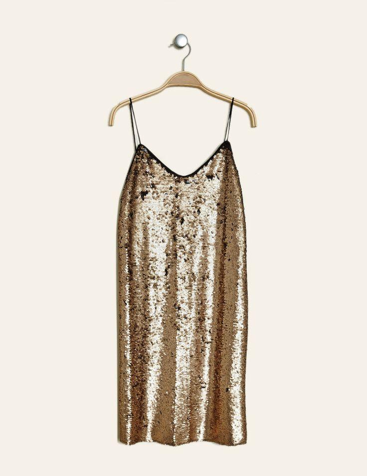 Robe en sequin dorée femme • Jennifer 15€ (soldes 30€)
