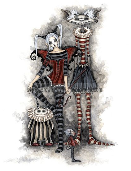 """Send in the Clowns"" PRINTS-OPEN EDITION - Carnival and Steampunk - Amy Brown Fairy Art - The Official Gallery"