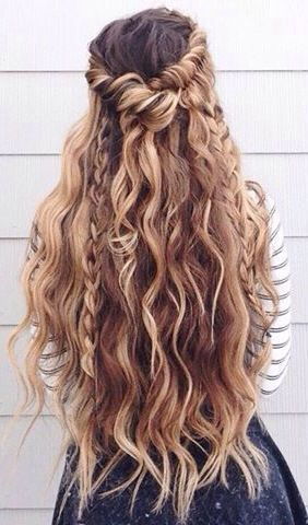 Tremendous 1000 Ideas About Curly Braided Hairstyles On Pinterest Hairstyle Inspiration Daily Dogsangcom