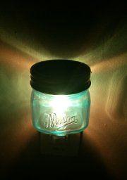 Mason Jar Plug In Fragrance Wax Warmer Blue by Tuscany Candle (af)