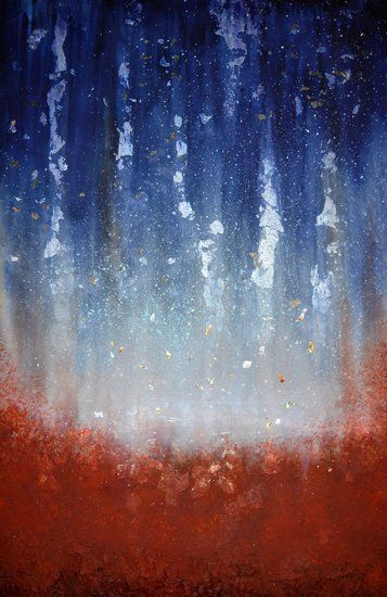 """. . . AND THE RAIN TUMBLES DOWN"" by artist Gillian Roulston - Buy Western Australian Art Online from Out of the Box Biz"