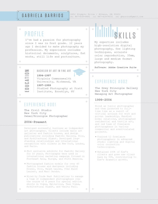 52 best Contemporary Resumes images on Pinterest Resume ideas - detailed resume