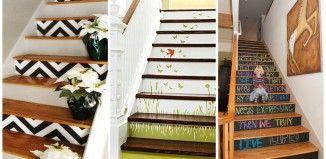 Des idées de décoration de vos escaliers!