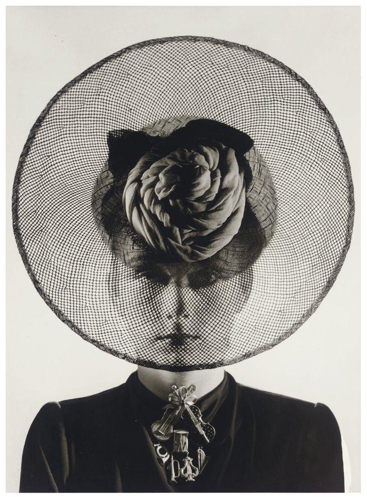 Erwin Blumenfeld - Hat and Jewelry, probably by Schiaparelli, 1938