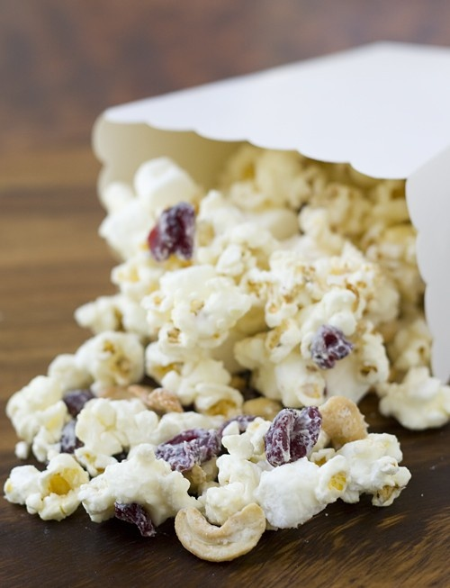 White Chocolate Cranberry Cashew Popcorn