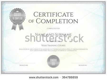 125 best Certificate template images on Pinterest Certificate - certificate of completion template free download