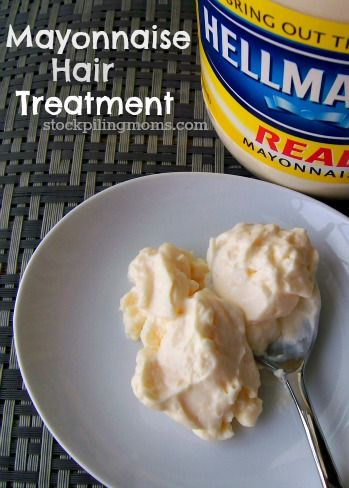 Mayonnaise Hair Treatment, This is seriously the treatment I've done lots of times and always works, lol plus we always have mayo in the house so it's just convenient (: