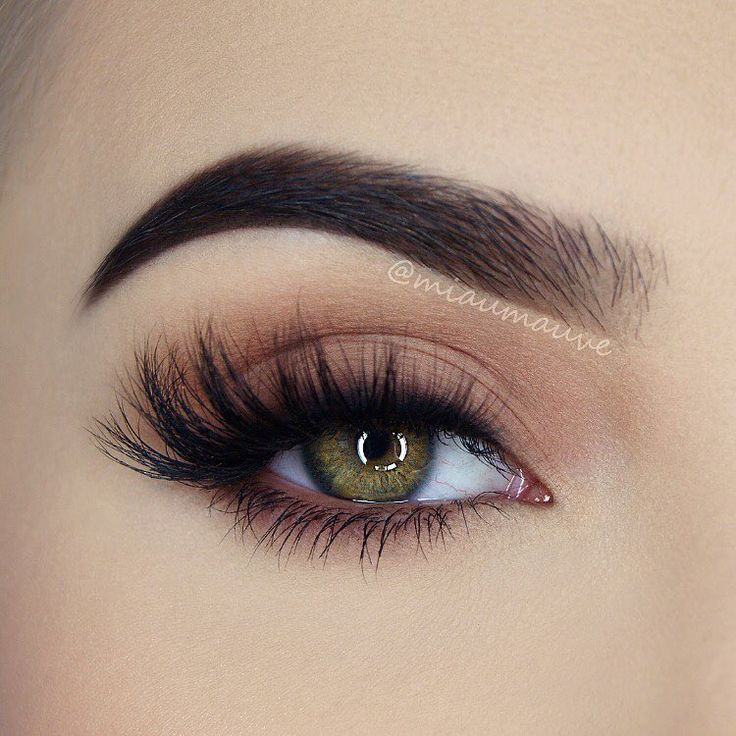 go-to matte neutral eye makeup @miaumauve : softly shaded lid, smoked out lashline, lots of lashes