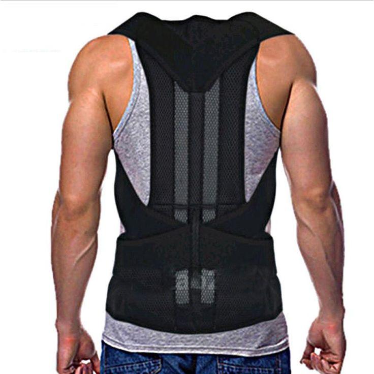 Men's Back Posture Corrector Back Braces Belts Lumbar Support Belt Strap Posture Corset for Men HEALTH CARE AFT-B003 10
