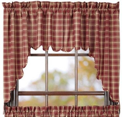 Add a primitive country touch to your home with our Kendrick Scalloped Lined Swag Curtains! https://www.primitivestarquiltshop.com/products/kendrick-scalloped-lined-swag-curtains #countrystylecurtains