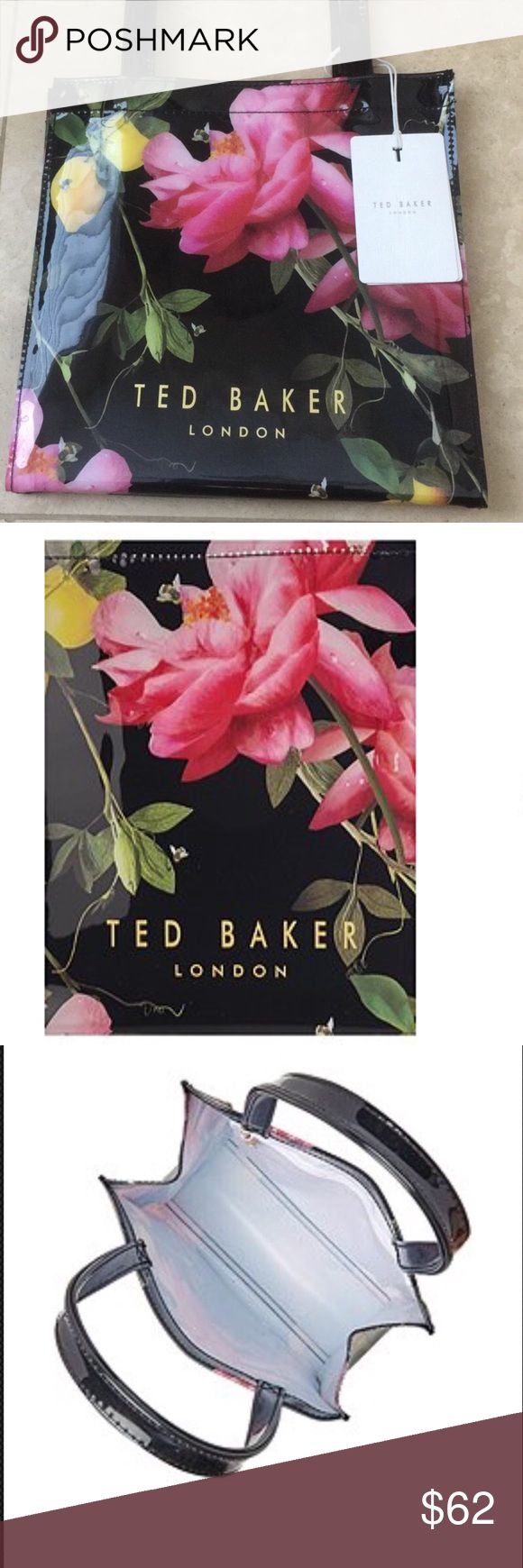 """Authentic Ted Baker Izzicon Small Tote Authentic Ted Baker London Izzicon Tote, 10"""" x 9 1/2"""" x 4 1/2"""", Strap Drop 7"""", BRAND NEW WITH TAGS❌NO TRADES❌ Ted Baker London Bags Totes"""