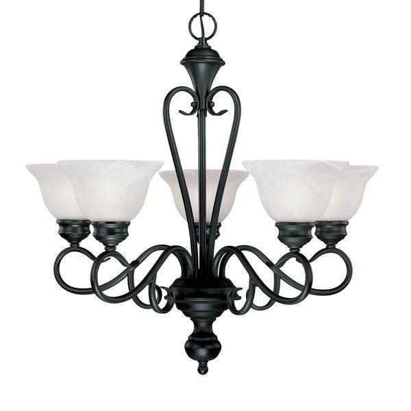 Birchview 5 Light Shaded Classic Traditional Chandelier Millennium Lighting Chandelier Lighting Black Chandelier