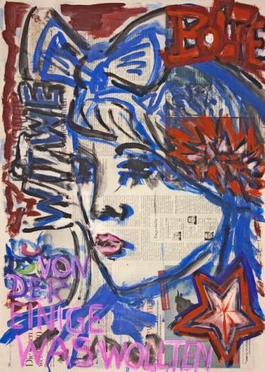 "Saatchi Art Artist Ahmed Borai; Painting, ""Witwe Bolte - Newspaper Art Novel - #01"" #art"