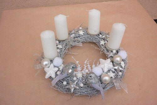 adventní věnec svícen stříbrný