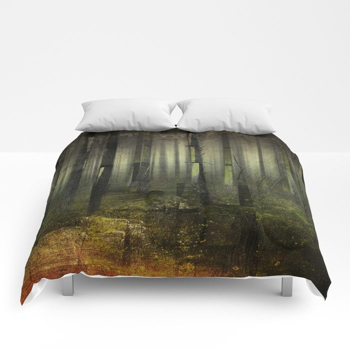 Why am I here Comforters by HappyMelvin. #nature #darkforest #forests #original #homedecor #comforters