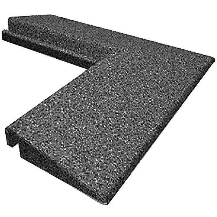 Outside Corner For 2x2 Ft X 1.25 Inch Sterling Rubber Floor Tile With  Interlock Edges.