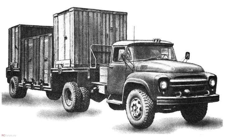 ЗиЛ-130В1+ п-пр.-контейнеровоз А441 г-п- 10т (НИИАТ)