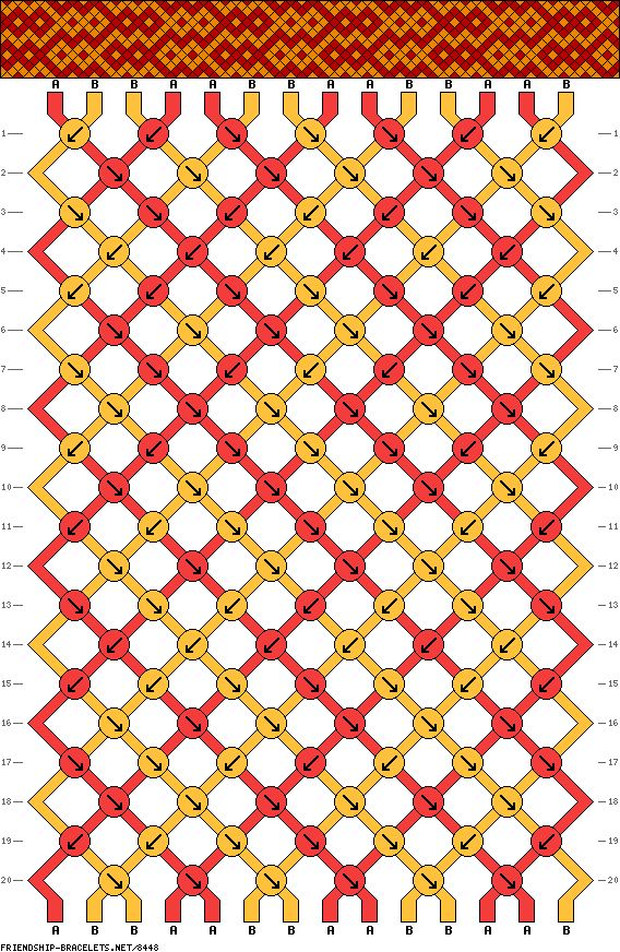 14 trings 20 rows 2 colors