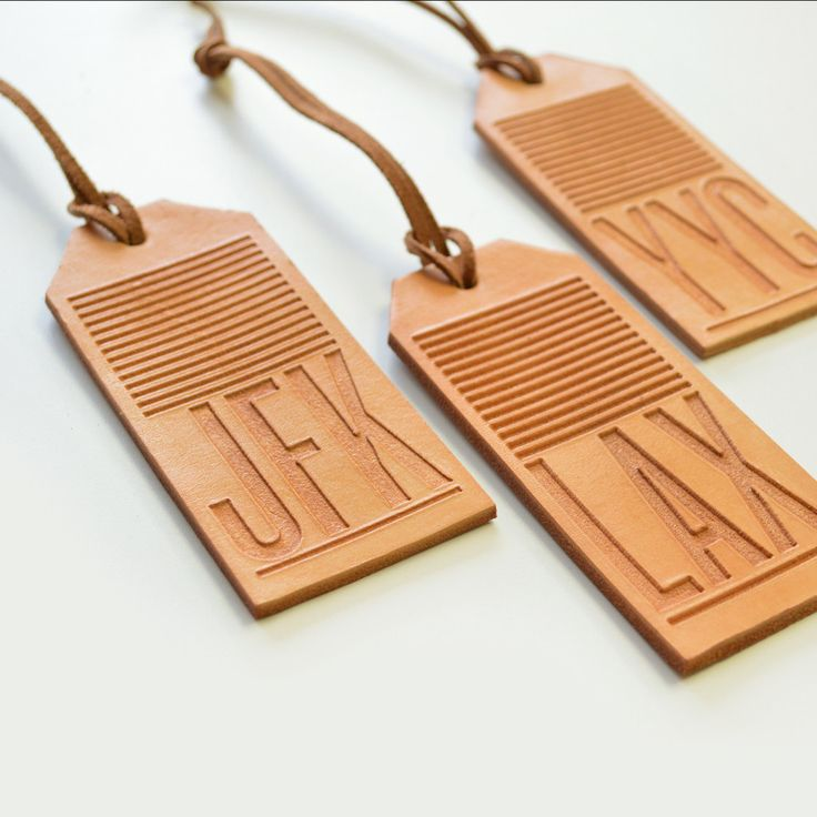 Whether you are planning your dream trip or are just representingyour city, do it in style with our beautiful etched leather tags. Each leather tag is engraved