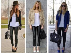 Legging Cuir Noir ou simili cuir noir : Comment bien le porter sans faute de goût - par Befashion