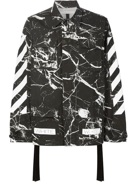 Shop Off-White marble print jacket in Hirshleifers from the world's best independent boutiques at farfetch.com. Shop 400 boutiques at one address.