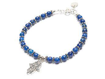 Lapis lazuli och hamsas hand
