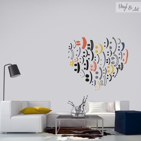 10 ideas about adhesivos decorativos on pinterest for Decoracion para pared de salon
