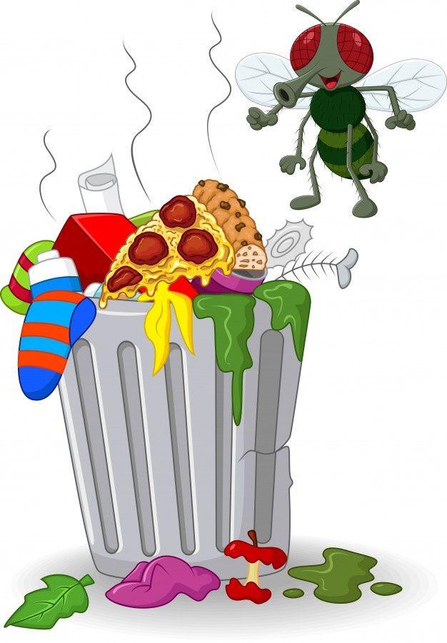 Bote De Basura De Dibujos Animados Y Vol Premium Vector Freepik Vector Comida Verde Caja Dibujos Animad Bote De Basura Basura Contenedor De Residuos