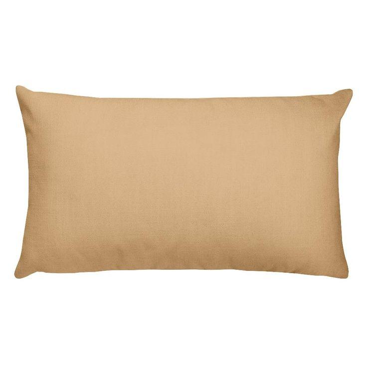 Burly Wood Rectangular Pillow