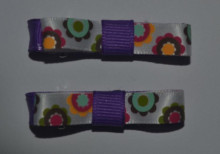 Gorgeous ribbon flower clip