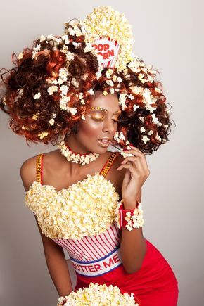 Make popcorn costume by yourself  Costume idea for carnival, halloween & carnival