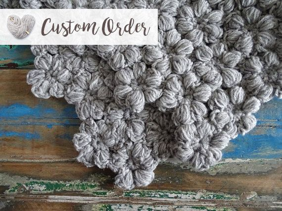 Crochet Baby Blanket  Chunky Baby Blanket  Baby by CuddleAndSnooze