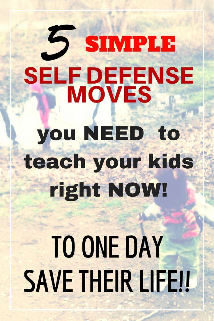 Teach your children these self defense tips and moves NOW to save their lives! Find great self defense moves for kids and even for girls. Learn to be safe and smart with these techniques! The post even has hacks and gadgets / weapons for women even moms that are absolutely life saving.