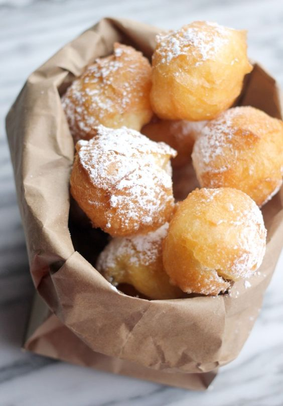 How to Make Beignets with Pate a Choux- Baker Bettie This was soooooo good! I made a dark chocolate sauce for dipping. They are like air!