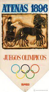 031 - JUEGOS ATENAS 1896 - Los Juegos Olímpicos de Atenas 1896, conocidos oficialmente como Juegos de la I Olimpiada, se celebraron en Atenas, Grecia, entre el 6 y el 15 de abril de 1896.  Participaron 241 atletas masculinos - no hubo participación femenina - de 14 países, que disputaron en 43 competiciones de 9 deportes. Fueron los primeros Juegos Olímpicos de la Era Moderna. A pesar de los muchos obstáculos y reveses, los Juegos Olímpicos de 1896 fueron reconocidos como un gran