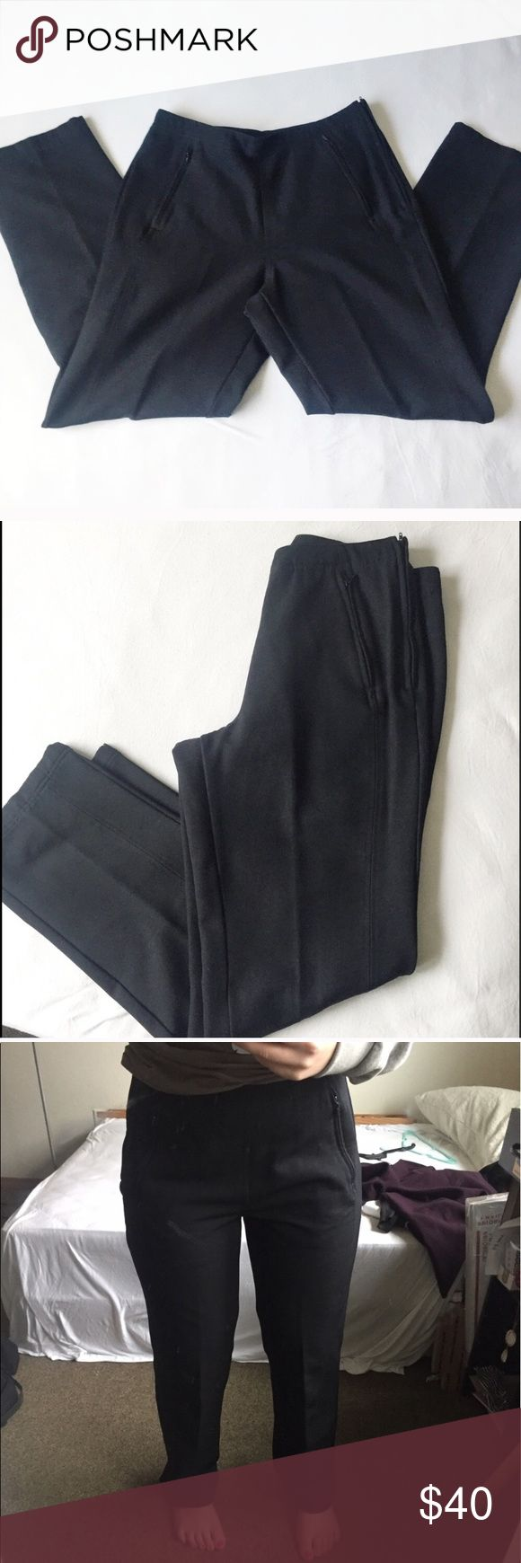 Columbia GRT Womens Walking Trouser Columbia GRT womens black Pant in size ten. Like new condition with no imperfections, tears, or piling. I wish I could find a stock photo of these because they are very flattering. They could get away with looking like a dress pant or trouser in my opinion and are fully lined so they are comfortable. Two zip pockets in the front and a zip closure on the side. Columbia Pants Trousers