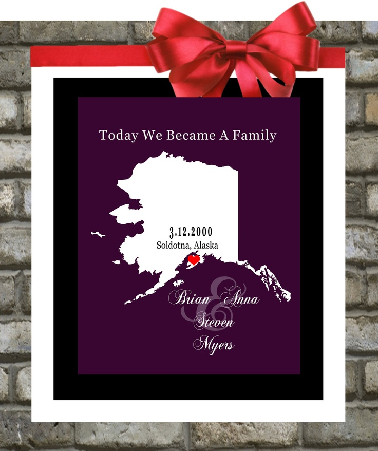 27 best adoption party ideas images on pinterest adoption party adoption gift 8x10 adoption print custom gift any words quotes or negle Choice Image