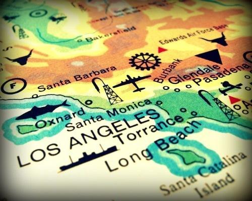 LOS ANGELES vintage map print: Southern California, Beaches Prints, Beaches Maps, Angel California, Vintage Maps, California Photo, Vintage California, Vintage Beaches, Angel Vintage