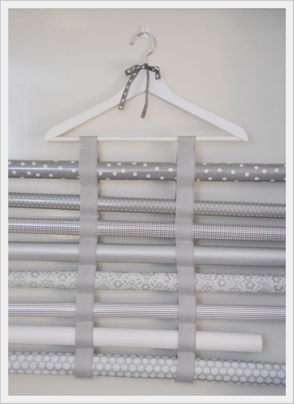 .The first wrapping paper organizer I've thought made sense for those of us who don't have 50 rolls at a time.