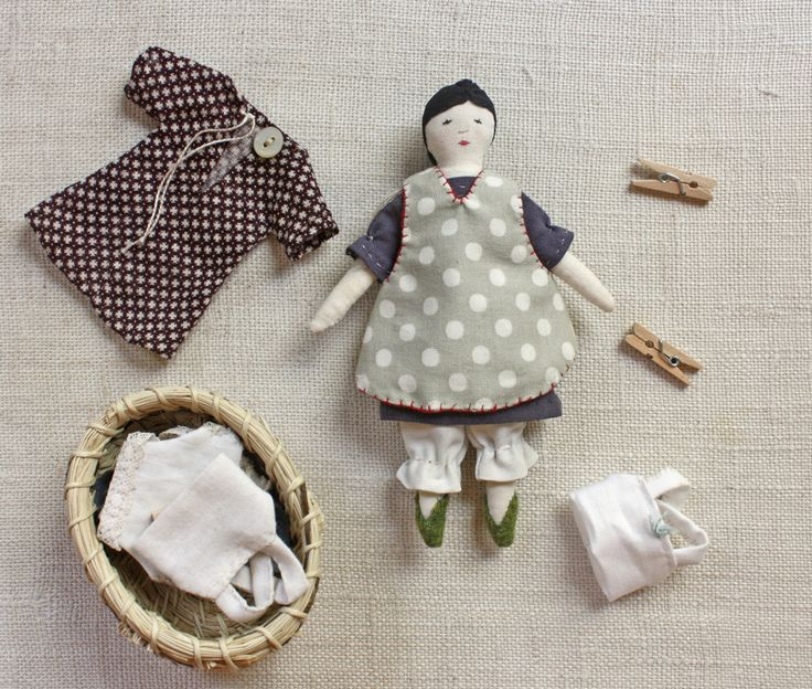 Find the pattern here. And she has a tiny wardrobe : dress, reversible pinafore apron, bloomers and a camisole – there are full instructions for all. It's a huge pattern with more than…