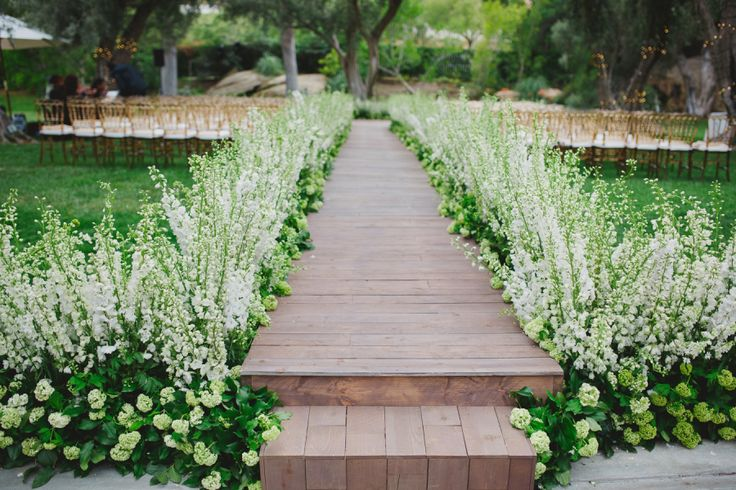 Morgan Stewart's spring ceremony: http://www.stylemepretty.com/2016/06/20/steal-the-look-morgan-stewarts-glam-all-white-wedding/