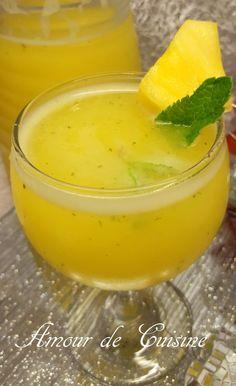 """Juste parce que ça l'air délicieux. Le côté """"amincissant"""" est juste un plus. -jus amincissant ananas et citron"""