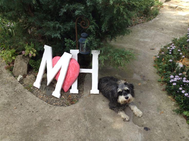 Буквы и сердце для нашей свадьбы